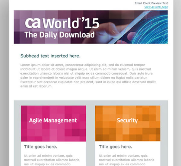 Responsive, Dynamic Marketo Email Template