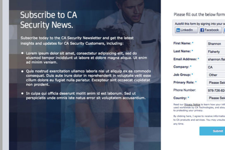 Responsive Email: Editable Marketo Newsletter and Landing page
