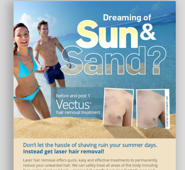Responsive Email and Flyer for Hair Removal