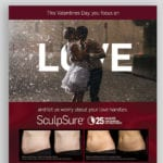 Valentines Day theme email and flyer
